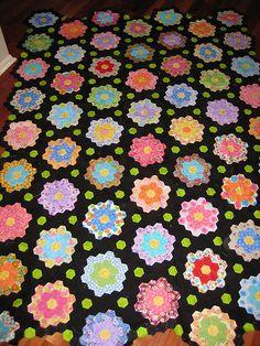 Midnight Garden Hexagon Quilt | DKC22 | Flickr