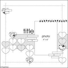 Sketch 12x12 - scrapbook - heart - love - valentines