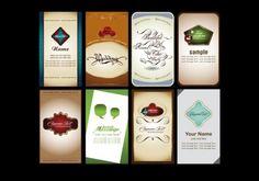 8 Elegant Personal Vector Cards Set - http://www.welovesolo.com/8-elegant-personal-vector-cards-set/
