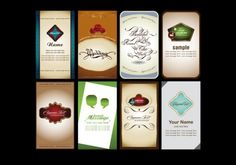 8 Elegant Personal Vector Cards Set - http://www.welovesolo.com/8-elegant-personal-vector-cards-set/