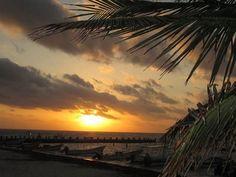 Pto Morelos beach sunrise 20 miles south of Cancun