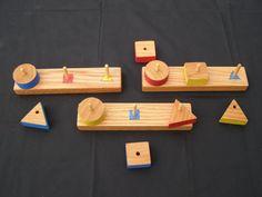Geometric Peg Board Set by Maukawoodwerks on Etsy, $25.00