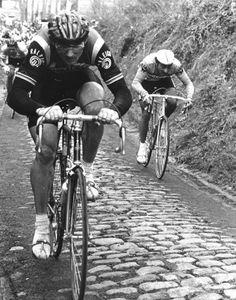 Ronde Van Vlaanderen, Jan Raas op de Muur. During the real Tour of Flanders. Not the actual fake one.