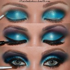 Brilliant combo of colors: blue, a little brown smoky, and a little smoky lilac
