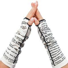 Les Miserable Writing Gloves - Fingerless Gloves   Storiarts