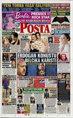 #20160325 #TürkiyeHABER #TurkeyNEWSpapers Gazete manşetleri (25 Mart 2016) Friday MAR 25 2016 #POSTA http://en.kiosko.net/tr/2016-03-25/np/posta_gazetesi.html + #20160325#TürkiyeHABER #TurkeyNEWSpapers #GazeteManşetleri20160325 #TürkiyeHABER #TurkeyNEWSpapers Gazete manşetleri