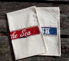 Fish Market Kitchen Towels Set of 2 by marylandquilter on Etsy, $18.00