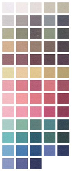 Most of these are good colors for me - I don't usually do much of the true pink/magenta family or a lot of teal, though.