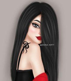 Beautiful Girl Drawing, Cute Girl Drawing, Beautiful Fantasy Art, Cartoon Girl Images, Cute Cartoon Girl, Sarra Art, Mother Daughter Art, Chica Fantasy, Best Friend Drawings