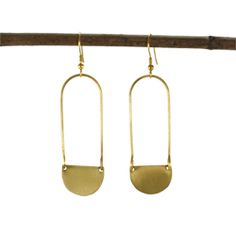 AC-912-GOLD  Aliya Earrings - gold