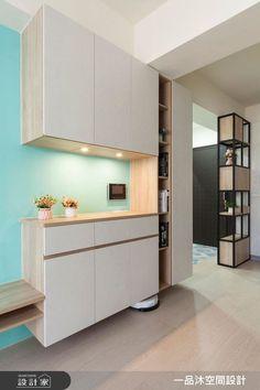 unit With Shoe Rack Shelf Design, Kitchen Cabinet Design, Modern Kitchen Design, Interior Stairs, Office Interior Design, Kitchen Interior, Entryway Storage Cabinet, Cabinet Decor, Home Entrance Decor