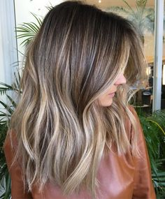 Brown Hair With Ash Blonde Highlights, Long Brown Hair, Color Highlights, Brunette Highlights, Balayage Highlights, Ash Balayage, Red Blonde, Golden Highlights, Chunky Highlights
