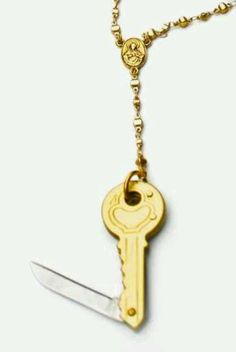 Knife key necklace.. id personally make it to put on my key chain