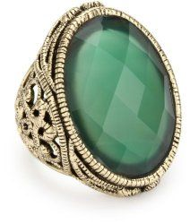 """""""Lace"""" Faceted Green Onyx Ring #unusualengagementrings"""