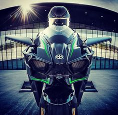 Seriously can't stop staring at this pic  H2R is pure insanity   #sportbikemods #kawasaki #h2 #h2r #superbike #sportbike #bikelife #motorcycle #futuristic #picoftheday #carbonfiber