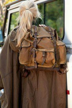 Barbour bag and cape
