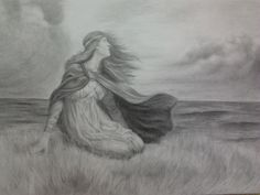 """By Renato Baqueiro - based on """"Vikings Daughter"""" - Lithograph by H. Dicksee"""