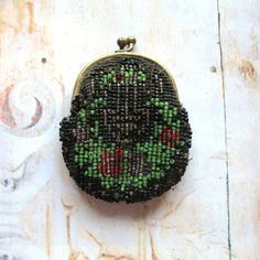 Antique Vintage Miniature Beaded Coin Purse c1920 by ComeDayCurios, $25.00
