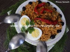 Farfoucha Harissa, Couscous, Beef, Food, Pickled Banana Peppers, Fennel, Turmeric, Red Peppers, Easy Meals