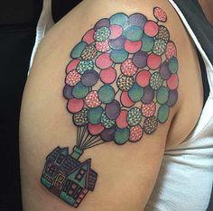 Disney's UP Tattoo Design