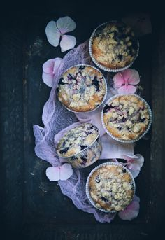Blueberry Lemon Muffins with Cardamom Crumble Topping