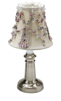 Diy beaded lamp shade beading diylampshades handmadehomedecor lampshade with fire polished czech glass beads pewter beads and silver plated beads aloadofball Choice Image