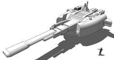 Capital Railgun - 1300mm A01 by karash-amerius