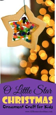 O Little Star Christmas Ornament Craft for Kids - WOW! This is such a cool Christmas Ornament for kids to make. This is a must make this year for kids from toddler and preschool through elementary school!