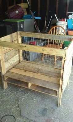 Pallet hay feeder for goats!