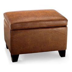 Cordoba Leather Storage Ottoman