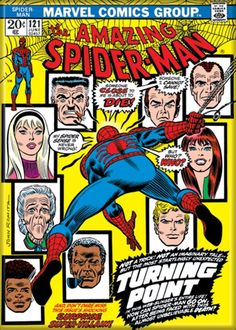 Amazing Spider Man 121 Death of Gwen Stacy Comic Book Cover Magnet Romita Amazing Spiderman, Mafex Spiderman, Amazing Spider Man Comic, Incredible Hulk, Amazing Art, Marvel Comics, Old Comics, Marvel Comic Books, Vintage Comics