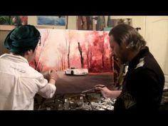 Igor Sakharov painting lessons asphalt road - YouTube