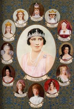 June 1911 Bottom of picture is Queen Mary, consort of King George V - Queen Consorts crowned in Westminster Abbey. George Vi, Queen Mary, Princess Mary, Queen Elizabeth, Queen Mother, Queen Queen, Elisabeth I, Royal Family Trees, Richard Iii