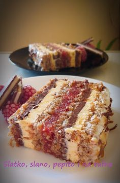 Kitchen Recipes, Baking Recipes, Cake Recipes, Dessert Recipes, Torte Recepti, Kolaci I Torte, Torta Recipe, Chocolate Slice, Car Bedroom