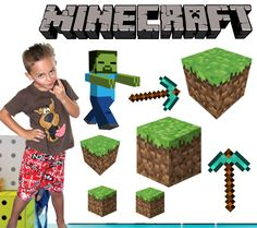 Minecraft Wall Stickers - Totally Movable, $8.95 (http://www.wholesaleprinters.com.au/minecraft-wall-stickers-totally-movable)