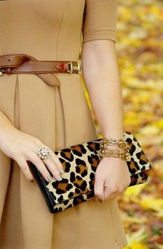 great leopard clutch