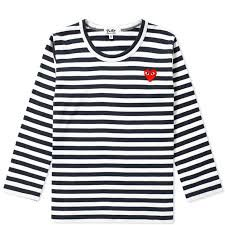 d78b1d21a40a Buy the Comme des Garcons Play Kids Long Sleeve Stripe Tee in Black   White  from leading mens fashion retailer END. - only Fast shipping on all latest  Comme ...