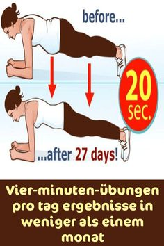 Four-minute exercises per day results in less than a month - Schnell Abnehmen - Fitness Fitness Workouts, Yoga Fitness, Gewichtsverlust Motivation, Fitness Sport, Health And Wellness, Health Tips, Health Fitness, Race Training, Benefits Of Exercise