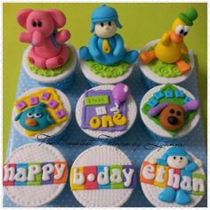pocoyo and friends cupcake