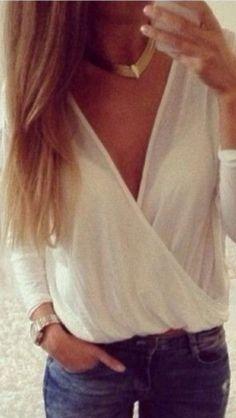 Draped wraparound blouse