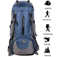 Hiking Backpack ONEPACK Waterproof Backpacking Outdoor Sport Daypack with Rain Cover for Climbing Mountaineering Camping Fishing Travel Cycling Skiing ( Orange) Best Travel Backpack, Backpack Camping, Camping In The Rain, Rv Camping, Camping Cabins, Best Hiking Backpacks, Camping Equipment Rental, Climbing Backpack, Exercise Bike Reviews