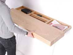 what if your shelf concealed a hidden drawer?  novel idea