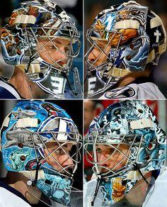 NHL Goalie Masks By Team | ... Bay Lightning - NHL Goalie Masks by Team (2010-11) - Photos - SI.com Hockey Helmet, Hockey Goalie, Goalie Mask, Sports Fanatics, Masked Man, Airbrush Art, Goalkeeper, Nhl, Lightning