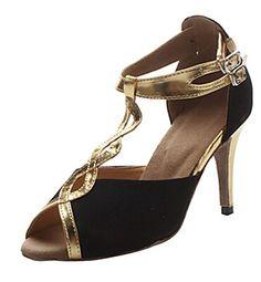 c67e96fb33d457 Shoesland Women s Peep Toe Chunky Heel Buckle Salsa Tango Ballroom Latin  Dance Dance Shoes Black Suede 10 D (M) US ( Partner Link)