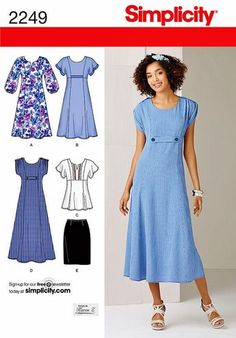 A-line Dress Pattern, Pullover Tunic Top Pattern, Straight Skirt Pattern,  Simplicity Sewing Pattern 2249 by blue510 on Etsy https://www.etsy.com/ca/listing/207844444/a-line-dress-pattern-pullover-tunic-top