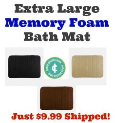 Extra Large 20×30 Memory Foam Bath Mat – Just $9.99 Shipped!