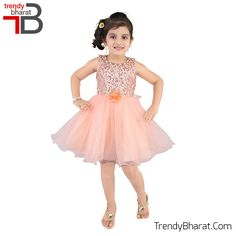 #Princes #Peach #Cute #Dress #Kidswear #Betrendy