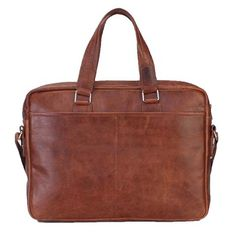 Brune Tan Brown Leather Portfolio Bag Online At Voganow