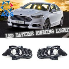 (84.97$)  Watch now - http://aino7.worlditems.win/all/product.php?id=32739352378 - 2PCs/set car styling AUTO LED DRL Daylight Car Daytime Running lights set For Ford Mondeo Fusion 2013 2014 2015