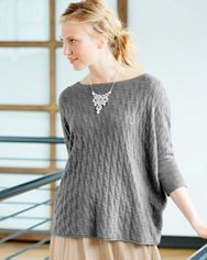 Cabled Cashmere Boxy Sweater